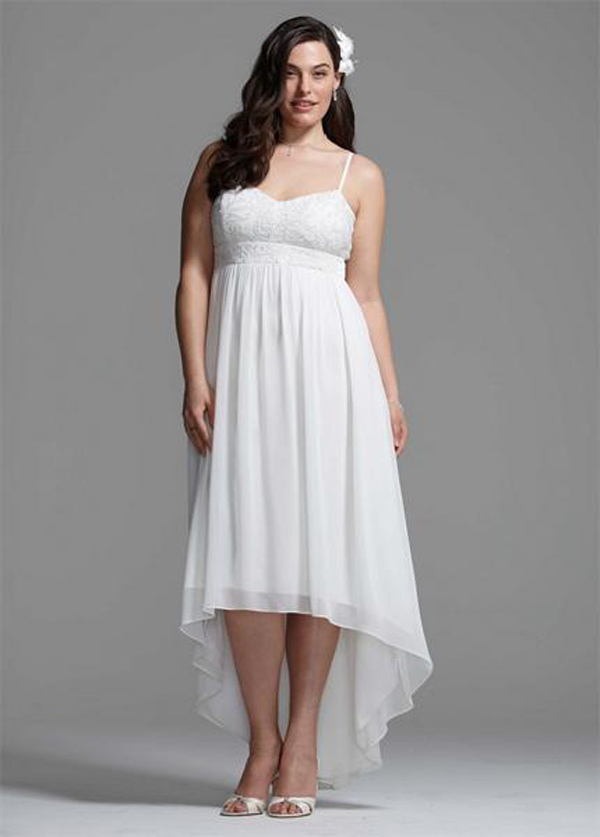Elegant plus size short wedding dresses under 100 sang for Wedding dress for less than 100