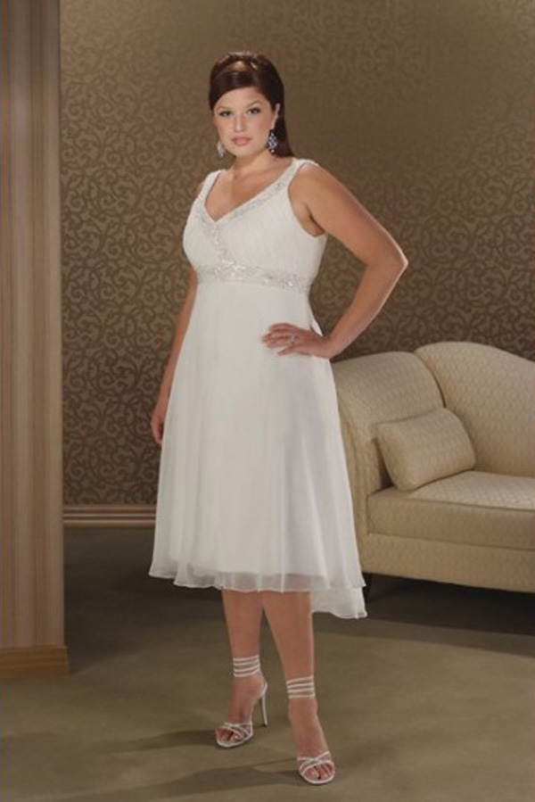 Wedding dresses plus size with short sleeves : Above is a stunning plus size short white wedding dress with sleeves