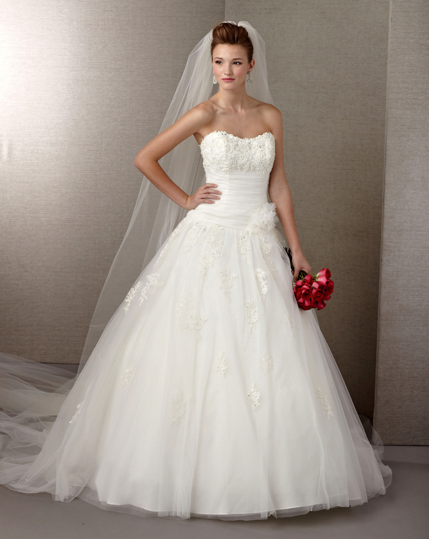 Ball gown strapless wedding dress under 100 dollars sang for Pretty ball gown wedding dresses